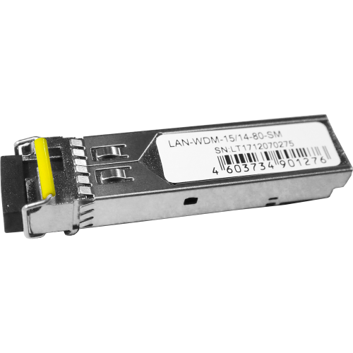 Модуль SFP WDM 1.25G, 1550nm / 1490nm, 80 km, LC, DDM, Cisco