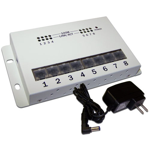 Сетевой концентратор 10/100 Mbps, 8 портов