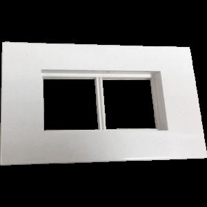 Суппорт с рамкой для короба 120х50 мм, белый