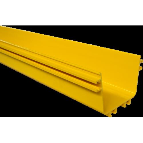 Прямая секция оптического лотка, 100x120 мм, 2 метра, желтая