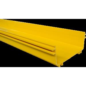 Прямая секция оптического лотка, 100x240 мм, 2 метра, желтая