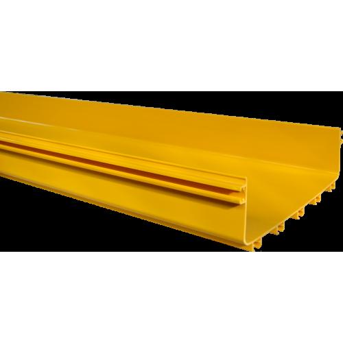 Прямая секция оптического лотка, 100x360 мм, 2 метра, желтая