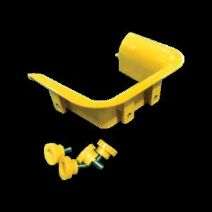 Торцевая накладка оптического лотка 120 мм, желтая