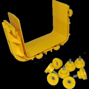 Соединитель оптического лотка, желтый