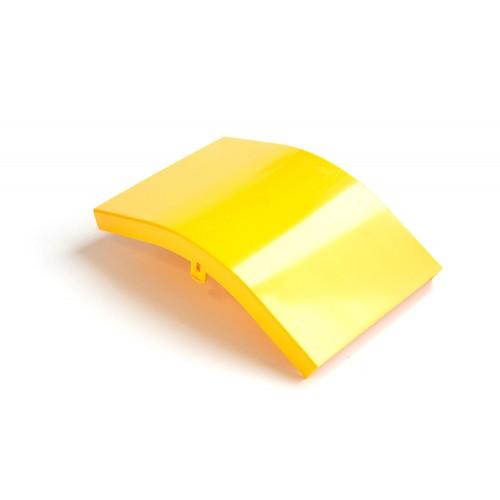 Крышка внешнего изгиба 45° оптического лотка, желтая
