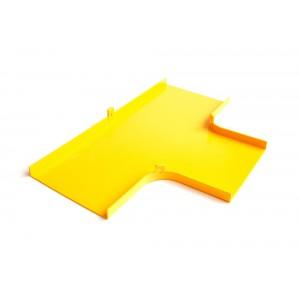 Крышка Т-соединителя оптического лотка, желтая