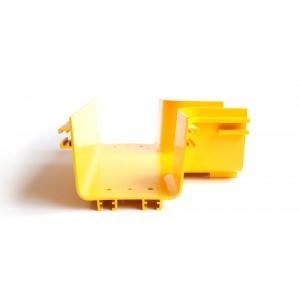 Т-соединитель оптического лотка, желтый