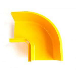Горизонтальный поворот 90° оптического лотка, желтый