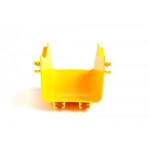 Внутренний изгиб 45° оптического лотка, желтый