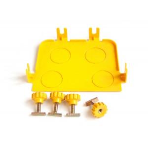 Торцевая заглушка оптического лотка, желтая