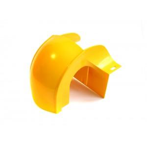 Спуск кабельный под трубу, с крышкой для лотка 120 мм, желтый