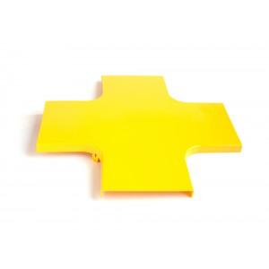 Крышка Х-соединителя оптического лотка, желтая