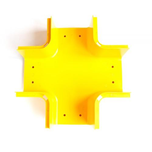 Х-соединитель оптического лотка, желтый