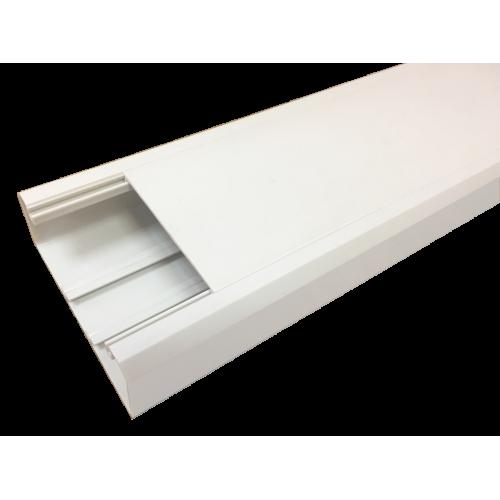 Короб 120х50 мм со съемной перегородкой, 2 метра, белый
