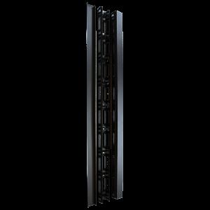 Кабельный органайзер вертикальный, для шкафов Business, металл, 2 шт., черный
