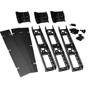 Вертикальный органайзер для регулируемых стоек, с пластиковыми пальцами и крышкой
