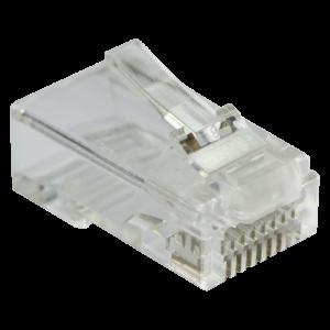 Коннектор RJ45 тип EZ, 8P8C, UTP, Cat.5e, универсальный, со вставкой, покрытие 50 микрон,100 шт.