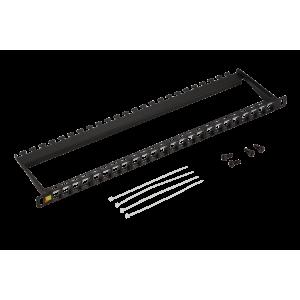 """Патч-панель наборная 19"""" компактная, неэкранированная, 24 порта, 0.5U"""