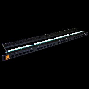 Патч-панель LANMASTER компактная 24 порта, UTP, кат.5Е, 0.5U