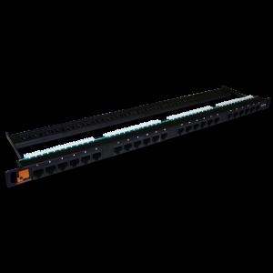 Патч-панель LANMASTER компактная 24 порта, UTP, кат.6, 0.5U