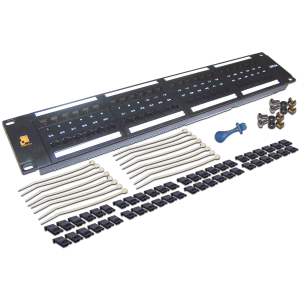 Патч-панель LANMASTER 48 порта, UTP, кат.5E, 2U