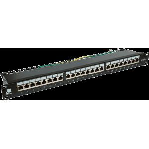 Патч-панель LANMASTER 24 порта с индикаторами, STP, кат.6, 1U
