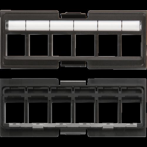 Вставка под кейстоны в модульную панель, экранированная, 6 портов, без шторок