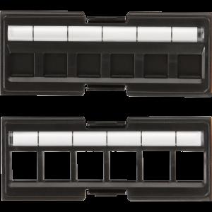 Вставка под кейстоны в модульную панель, неэкранированная, 6 портов