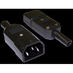 Вилка IEC 60320 C14, 10A, 250V, разборная, черная