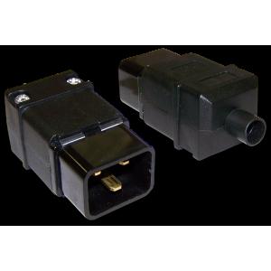 Вилка IEC 60320 C20, 16A, 250V, разборная, черная