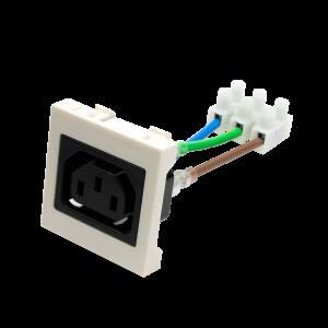 Гнездо IEC 60320 C13, 10A, 250V, формата Mosaic, 45x45 мм