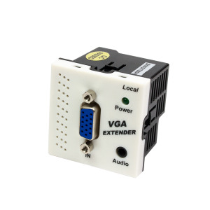 Конвертор RJ45-VGA, передатчик, без блока питания, формата Mosaic, 45x45мм, белый