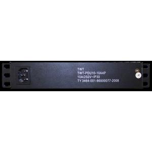 "Блок розеток 10"" 4 шт., 10A 250V, без шнура питания"