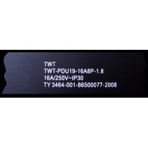 """Блок розеток 19"""" 8 шт., 16A 250V"""